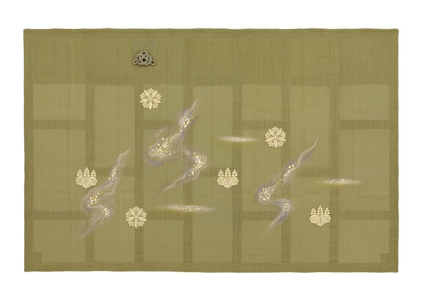 七条袈裟 金彩銀河 両山紋