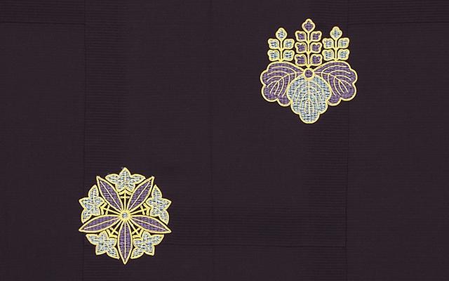 紫色正絹羽二重七条袈裟 座具付