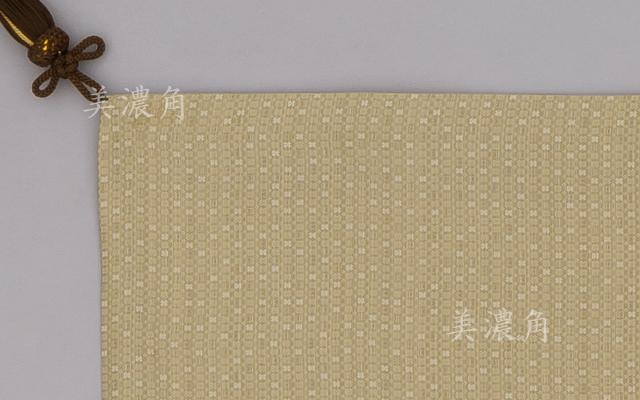 香台掛 白茶色壁石模様緞子